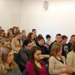 Uczestnicy podczas wykładu w auli przy ul. Szerokiej
