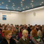 Uczestnicy Dnia Otwartego w auli przy ul. Szerokiej