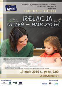 """Konferencja """"Relacja uczeń - nauczyciel plakat"""
