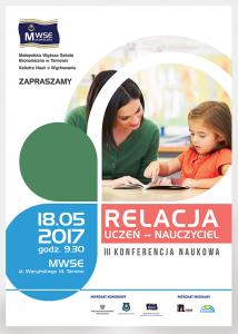 Relacja uczeń - nauczyciel 2017 - plakat