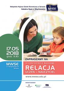 Relacja uczeń - nauczyciel 2018 plakat