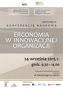 konferencja ergonomii plakat