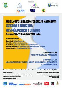 Plakat konferencja 20-21 kwietnia 2016