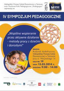 plakat sympozjum pedagogiczne