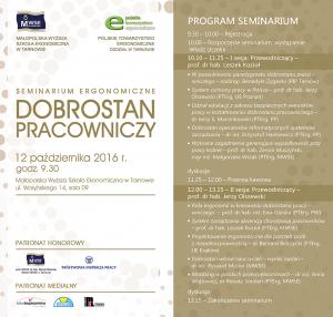 Program sympozjum ergonomicznego 2016