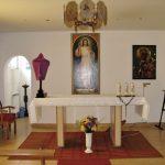 Wnętrze kaplicy w Zakładzie Karnym