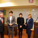 Spotkanie z Longin Pastusiak - Longin z władzami uczelni