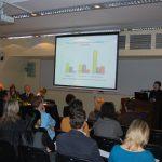 Sala obrad podczas prezentacji multimedialnej i wystąpienia pani Gertrudy Gałek