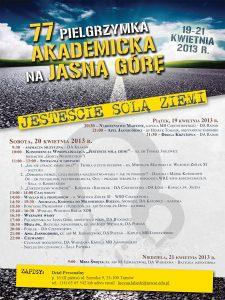 Plakat Pielgrzymka Akademicka 2013