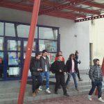 Targi edukacyjne w Nowym Sączu - wejście do budynku