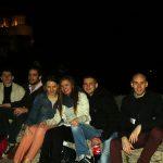 Acropol nocą - grupa studentów Programu Erasmus
