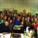 Grupa kilkudziesięciu studentów, którzy przyjechali do Beja w ramach międzynarodowej wymiany studentów 2013