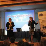 Prelegentka z organizatorką konferencji dr Marzeną Bac