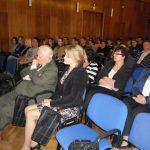 Uczestnicy wykładu, na pierwszym planie dr Marzena Bac i prof. Leszek Kałkowski