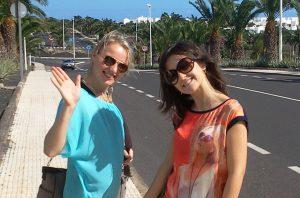 Studentki na ulicy Lanzarote