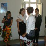 Studenci odebrali gratulacje od Dziekan dr Jolanty Staniendy