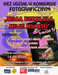 Plakat MOJA UCZELNIA MOJE MIASTO IV edycja