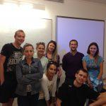 Grupa studentów MWSE z profesorem Luis Elói lektorem języka portugalskiego