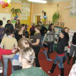Warsztaty logorytmiczne - uczestnicy podczas zajęć