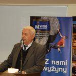 Rektor prof. Michał Woźniak przy mikrofonie