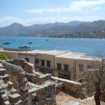Kreta - widok na zabudowania i morze