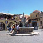 Fontanna w mieście Rodos