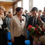 Prof. E. Górska i zaproszeni goście