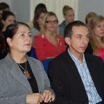 Kanclerz mgr Zofia Kozioł oraz Koordynator Programu Erasmus mgr Radosław Pyrek w trakcie wykładu