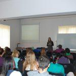 M. Sc. Ivana Varičak prezentuje ofertę edukacyją uczelni partnerskiej
