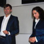 Dr Wojciech Kozioł i Milena Kazashka w trakcie zajęć dydaktycznych
