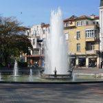 Plovdiv - fontanna w nowej części miasta