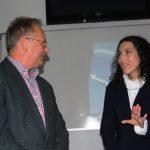 Prof. dr hab Leszek Kozioł rozmawia z Migleną Kazashka Koordynator Programu Erasmus w UARD