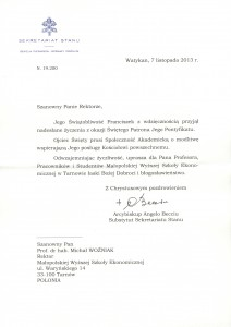 papież list