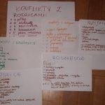 Kartki z notatkami uczestników warsztatów