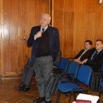 Rektor prof. Michał Wożniak zabiera głos w dyskusji