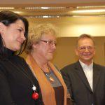 Nauczyciele akademiccy. Od lewej: dr Anna Wojtowicz, dr Maria Dąbrowa i prof. Leszek Kozioł
