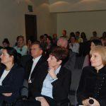 Uczestnicy wykładu, w pierwszym rzędzie od lewej kanclerz, wicekanclerz, dziekan