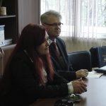 Trakia University - przy stole siedzą Blaga Staykova, koordynator programu Erasmus i mgr Witold Zych