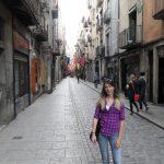 Studentka na ulicy Girony