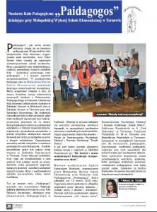 Paidagogs przy MWSE w Tarnowie