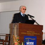 Rektor w trakcie podsumowania projektu Erasmus