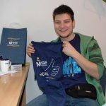 Student z Chorwacjiz koszulką MWSE