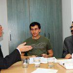Prof. L. Kozioł i studenci z Turcji podczas zajęc