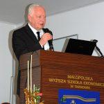 Dyrektor Powiatowego Urzędu Pracy w Tarnowie Stanisław Dydusiak w trakcie wykładu