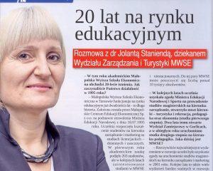artykuł 20 lat na rynku edukacyjnym