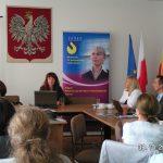 dr inż. Agnieszka Lisowska-Lis (PWSZ w Tarnowie) podczas wystąpienia pt. Współpraca bilateralna i działania w ramach europejskich programów edukacyjnych