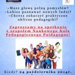 """Dołącz do koła naukowego pedagogów """"Paidagogos"""""""
