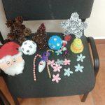 Ozdoby świąteczne przygotowane przez prowadzącą