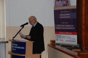 Uroczyste Rozpoczęcie Konferencji przez Pana Rektora MWSE - prof. dr hab. Michała Woźniaka