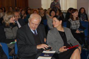 Kanclerz MWSE Pani mgr Zofia Kozioł wraz z Rektorem MWSE Panem prof. MWSE dr hab. Michałem Woźniakiem